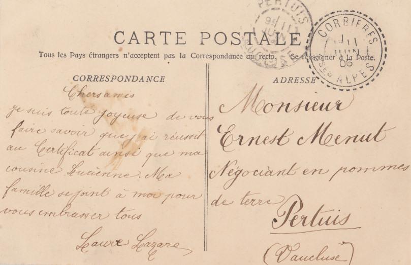 Exceptionnel carte postale | Corbières - Alpes de Haute Provence KX17